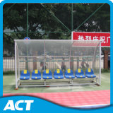Abrigo autônomo da equipa de futebol da qualidade de China, assentos portáteis do esconderijo subterrâneo do futebol com preço barato