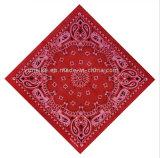 男女兼用の方法100%年の綿のペーズリーのバンダナのスポーツのスカーフ