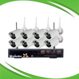 1MP 8CH NVR e Kits de CCTV Câmara IP