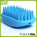 밝은 파란색 고무 애완견 솔 (HN-PG306)