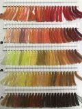 Cuerda de rosca colorida de encargo de los pantalones vaqueros del fabricante del hilo de coser del poliester de la Mejor-Calidad