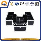 أسود عالة تخزين يحمل ألومنيوم [توول كس] مع 4 صينيّة