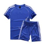 スポーツ・ウェアの昇華印刷青いカラーフットボールジャージー
