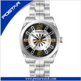 Hommes imperméables à l'eau de montres-bracelet d'acier inoxydable de type de mode de qualité