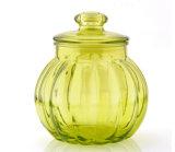 Пищевой категории 3ПК красочные стеклянный кувшин для хранения продуктов со стеклянной крышкой
