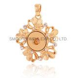 بالجملة زهرة مدلّيات نوع ذهب [رهينستون] مجوهرات شريكات يقدح أزرار
