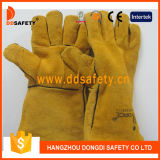Ddsafety 2017 Yellow Cow Split Gants en cuir Welder Safety Working Gloves