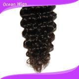 Quercyの毛の新しい到着の安いバージンのインドの深い波の毛は元のインドの人間の毛髪を束ねる