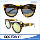 Gafas de sol de la tortuga del visera de las mujeres de la manera con el marco Tr90