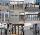Puerta corredera UPVC con persianas de vidrio