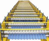 金属は機械装置を形作る鋼鉄壁シートロールを波形を付けた