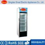투명한 유리제 문 직접 냉각 강직한 청량 음료 전시 냉장고 진열장