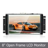 Venda a quente 8 Monitor LCD widescreen com tela sensível ao toque de estrutura aberta