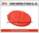 Muffa rotonda rossa del coperchio per la muffa del recipiente di plastica