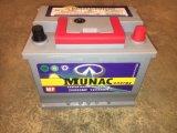 DIN55MF 12V55ah свинцово-кислотного аккумулятора автомобиля без необходимости технического обслуживания