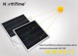 Réverbère actionné solaire du détecteur DEL de PIR avec le panneau de Solarworld