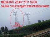 Doppia torretta della trasmissione di tangente del circuito di Megatro 220kv 2f11 Szck
