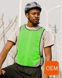 Livro Verde da OEM Hi Vis Construção respirável Vest, Reflective Andar colete de segurança