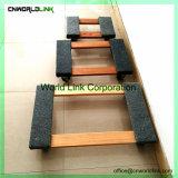 4 Rodas simples laminagem de madeira para mobiliário Dolly