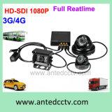 4 canales DVR móvil 3G 4G HD 1080P tiempo real H.264 de alta definición grabadora de vídeo digital CCTV