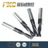Gabinete Móvel HRC CNC Fxc45 2 flautas ponta de carboneto de madeira do Moinho fresa