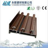 Fenêtre de glissement en aluminium d'isolation thermique de grain en bois