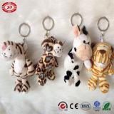 Cadeau mignon de jouet de trousseau de clés bourré par peluche animale de vache