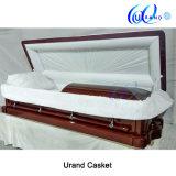 えんじ色の光沢の光沢度の高く贅沢な棺および小箱