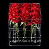 Caisse d'emballage acrylique de fleur de boîte-cadeau de qualité