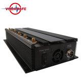 Emittente di disturbo registrabile del segnale del cellulare di alto potere 3G 4G delle antenne del periferico 6 & emittente di disturbo di WiFi, 6 emittente di disturbo potente registrabile di VHF WiFi di frequenza ultraelevata del cellulare delle antenne 3G 4G