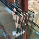 12mm Low-Iron ultra large en verre trempé pour l'immeuble en hauteur