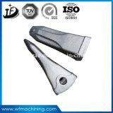 Dents en acier résistantes à l'usure modifiées de position d'excavatrice de pièce forgéee d'usine