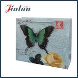 3D 반짝임 나비 나일론 밧줄은 UV 인쇄한 종이 봉지를 주문을 받아서 만든다