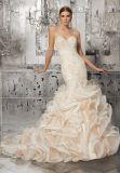 Элегантный кружевом валика клея Русалки вечер устраивающих платье свадебные платья 8189