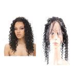 7A加工されていないブラジルの黒く深い波の人間の毛髪の織り方のかつら