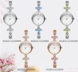 Colorido de Cristal Swarovski Bracelete Assista Japão Movent Aço Inoxidável Bracelete Assista relógio de pulso