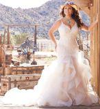 Plage de dentelle robes de mariée et robes de mariage de sirène de taille M3271