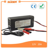 Suoer Intelligent 20A 12V chargeur de batterie portable avec le mode de charge triphasés (fils-1220)