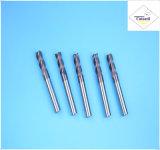Cutoutil HRC45 Tialnのコーティング 鋼鉄CNCの機械化の部品&#160のためのD1.5*4*4*50 2f/4f; 固体炭化物の端製造所のツール