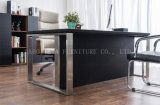 새로운 나무로 되는 가죽 PVC 현대 사무실 책상 (AT023A)
