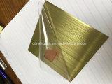Strato colorato oro dell'acciaio inossidabile della Rosa dell'oro di alta qualità di piastra metallica