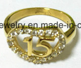 Acero inoxidable 316L con el anillo de la joyería de la manera de la CZ (SCR2958)