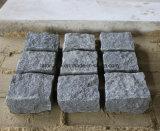 Камень кубика гранита серого цвета G654 Padang темный