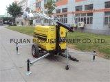 IP54 Toren van de Aanhangwagen van de dieselmotor de Mobiele Lichte