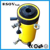 Double plongeur temporaire cric hydraulique de cavité de cylindre hydraulique