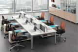 6 Seaterの区分が付いているまっすぐなオフィス・コンピュータの机