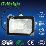 La luz de inundación al aire libre IP66 Fixtures10W-100W adelgaza la luz de inundación del LED