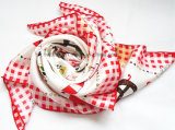Kundenspezifischer Silk Schal der Qualitäts-100% (HWBS-006)