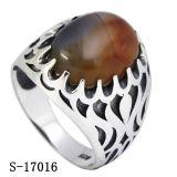 Anello d'argento dell'uomo dei nuovi modelli 925 con l'agata rossa