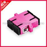 Multimode OM4 Duplex van Sc 10G met Adapter van de Vezel van de Flens de Plastic Optische Violette